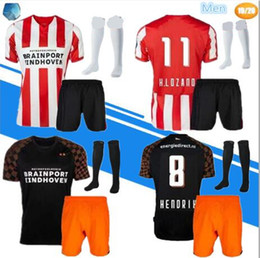 Wholesale Adult kit sock Eindhoven Soccer Jerseys Home MAXI L DE JONG H LOZANO Soccer Shirt BERGWI JN PEREIRO Football SHIRTS