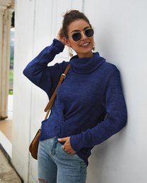 Ladies sweaters neck designs online shopping - Turtleneck Sweater Women Originally Designed Fashion Solid Ladies Fall Sweater Women Pullovers Long Sleeve Knit Sweater