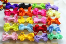 High Quality Hair Clip Bow Australia - 120pcs baby Girl 2inch mini Hair Bow clip with all wrapped ribbon clips High Quality Ribbon Lined Alligator clip Hairpin FJ3232