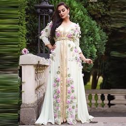 $enCountryForm.capitalKeyWord Australia - Arabic Middle East A Line Formal Chiffon Evening Dresses with Handmade Flowers Robe Dubai Turkish Moroccan Prom Evening Gowns