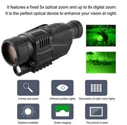 FS99 Dijital IR Gece Görüş Kızılötesi IR Monoküler Kamera Kamera Fonksiyonu Teleskop Video Kaydedici teleskop kamera