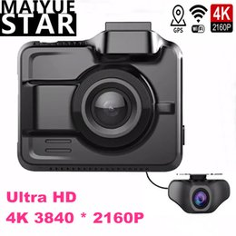 car dvr camera wifi Australia - Maiyue star true 4K Ultra HD 3840 * 2160p dual lens cam car DVR built-in GPS WIFI camera rear full HD 1080P lens