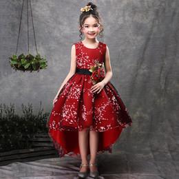 $enCountryForm.capitalKeyWord Australia - New Brand Flower Girls Dress Princess Party Wedding Gowns For Children Graduation Ceremony Baby Kids Long Tail Formal Wear Q190522