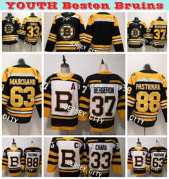 9b807a1b0 2019 Winter Classic Youth Boston Bruins 37 Patrice Bergeron 33 Zdeno Chara  88 David Pastrnak 63 Brad Marchand Hockey Jerseys Stitched Shirts
