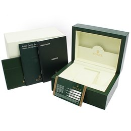 $enCountryForm.capitalKeyWord UK - High Quality Green Box Papers Gift Watches Boxes Leather Bag Card For 116610 116660 116710 116613 116500 For Rolex Watch Boxes