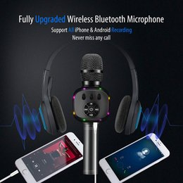echo karaoke 2020 - 2019 Upgraded Bluetooth Karaoke Microphone, Wireless Pop Speaker ECHO MIC with Dynamic LED Light for Home Stage Party