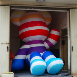 inflatable bear Australia - 4m High Giant Inflatable Balloon Colorful Bear With LED Inflatables Mascots For Christmas Stage Event Decoration