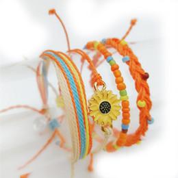 $enCountryForm.capitalKeyWord Australia - Europe and the United States wax line hand rope small fresh hand-woven waterproof 4pcs female boho wind bracelet gift