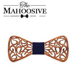 $enCountryForm.capitalKeyWord Australia - Mahoosive New Floral Wood Bow Ties for Men Bowtie Hollow Butterflies Wedding suit wooden bowtie Shirt krawatte Bowknots Slim tie D19011003