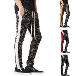 $enCountryForm.capitalKeyWord Australia - Men's Sports Jogger Trousers Camouflage Printed Zipper Male Casual Pants Trousers Side Stripe Trousers for Man Hip Hop Clothing