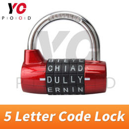 spare parts box Australia - 5 Letter Code Combination password lock Escape Room Spare Parts installed on the door or boxes or othersTakagism game YOPOOD