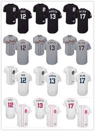590d221d07e custom Men women youth Tigers Jersey  12 Anthony Gose 13 Lance Parrish 17  Denny McLain Home Black White Grey Baseball Jerseys