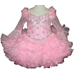 Make Mini Cupcakes Australia - Little Baby's Pageant Cupcake Dresses Custom Made Short Ruffled Long Sleeves Infant Party Mini Tutu Gowns