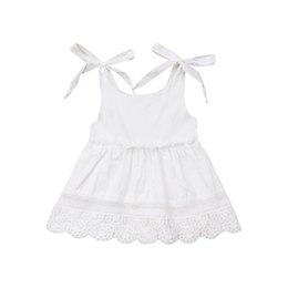white dresses for girls casual UK - Summer White Dresses for Girl Baptism Baby Girl Clothing 1 Year Birthday Party Toddler Christening Clothes Infant Dress