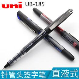 $enCountryForm.capitalKeyWord Australia - 5PCS Japan Uni  Mitsubishi UB-185 Gel Pen VISION Signing Pen 0.5MM Straight Liquid Needle Type Gel