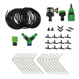 garden drip irrigation kits UK - Drip irrigation watering system Dropper watering kit gardening tool kit for Potted plants 1set T200530