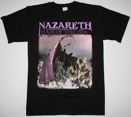 Hair Color Purple Red Black NZ - NAZARETH HAIR OF THE DOG HARD ROCK DEEP PURPLE URIAH HEEP NEW BLACK T-SHIRT Men Women Unisex Fashion tshirt Free Shipping black