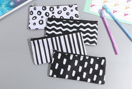 cosmetic bag make up Australia - Stripe Pencil Bag Pocket School Cosmetic Make Up Pencil Pen Organizer Bag Case Pouch Office School Supplies
