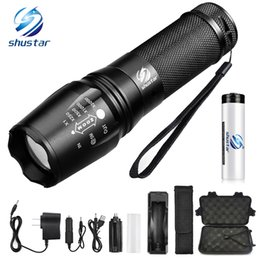 Wholesale LED flashlight Tactical Flashlight Lumens XM L2 T6 Zoomable Modes aluminum Lanterna LED Torch Flashlights For Camping