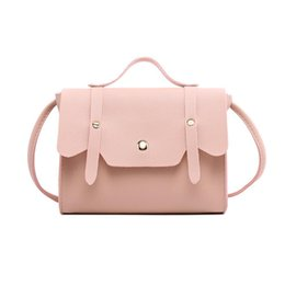 7ba5363a1a9 Girls Leather Small Handbags Australia - Cheap Women s Leather Simple Solid  Handbag Small Shoulder Bags Crossbody