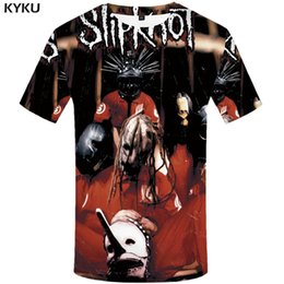 $enCountryForm.capitalKeyWord Australia - wholesale Punk T shirt Gothic Tshirt Slipknot Tees Rocking Tops Clothes Shirts Men 3d T-shirt Mens Hip hop Print