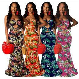 $enCountryForm.capitalKeyWord NZ - European and American summer new women's sexy digital print fashion style sleeveless dress wrapped chest and floor dress