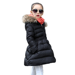 Parkas For Winter Australia - OLEKID Fashion Children Winter Jacket For Girls Thick Warm Long Girls Parka 5-14 Years Kids Outerwear Teenage Girls Coat