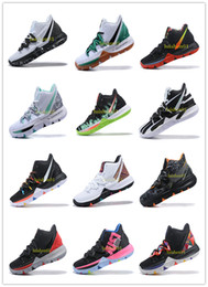 Clear Balls Australia - Irving 2019 Limited 5 Men Basketball Shoes 5s Black Magic For Kyrie Chaussures De Basket Ball Mens Trainers Sneakers Zapatillas 40-46 v03