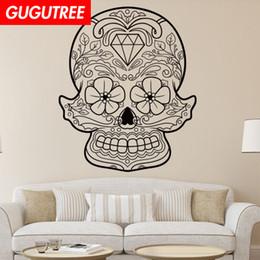 $enCountryForm.capitalKeyWord Australia - Decorate Home skull cartoon art wall sticker decoration Decals mural painting Removable Decor Wallpaper G-1935