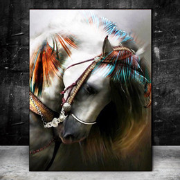 horse paintings wall art NZ - -.43-0023 Horse Animal Home Decor Handpainted &HD Print Oil Painting On Canvas Wall Art Canvas Pictures 200