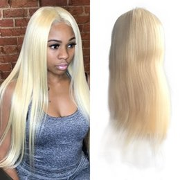 $enCountryForm.capitalKeyWord Australia - 613 Blonde Hair Straight Lace Front Wig Full Lace Wig Peruvian Human Hair Large Stock FDSHINE