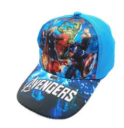 e64675d5cdbbf 2019 New Cartoon The Avengers hat Children Cartoon Cotton Baseball Cap Kids Hip  Hop Cosplay Hat H009