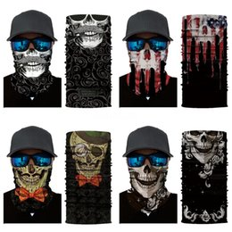 exercise scarf Canada - Outdoor Cycling Caps Masks Gym Fitness Skull Scarf Magic Turban Yoga Exercise Hair Bands Kerchief Running Headbands Multifunctional Banda#328