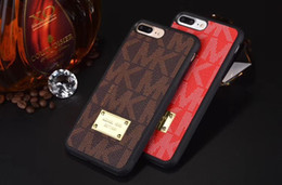 Iphone Plate Metal Case Australia - Plating Metal Printed Letter Leather Back Case 2 in 1 Classic Holster Phone Shell for iPhone XS Max XR 7 Samsung S10 Note9