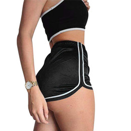 Sexy Pole Dancing Australia - High Waisted Ladies Silk Shorts 2018 Summer Slim Fit Elastic Booty Shorts For Women Hot Sexy Pole Dance Pantalon Femme