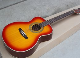 Guitar mahoGany oranGe online shopping - Factory Custom quot Cherry Sunburst Acoustic Guitar Chrome Hardwares Rosewood Fingerboard Top Solid Offer Customized