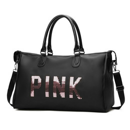 Sac femme sac en nylon fourre-tout sac de marque sac pour femme sac à main solide paillettes femme messenger sacs voyage haute capacité 021 en Solde