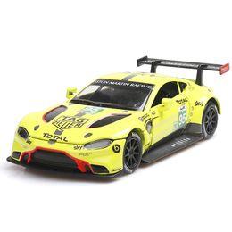race car lights 2019 - 1:32 Metal Car Toy Diecast Metal Toy Model Car with Sound Light Diecast Alloy Model Apply to Aston Martin Le Mans Racing