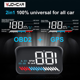Car Heads Up Display Australia - VJOYCAR 2019 New M7 2 in 1 Car Hud OBD On board Computer GPS Head up Display For All Vehicles Speedometer Windshield