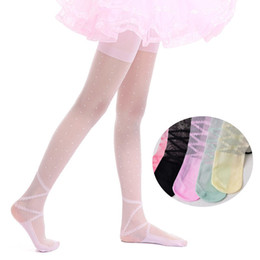 44b1ef2b1 Baby Girl Stockings Tights UK - Children Girls Ballet Dance Tights Dot Kids  Tights For Baby