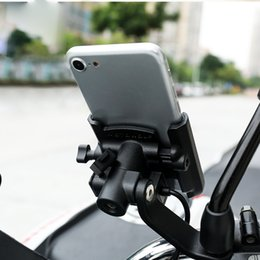 $enCountryForm.capitalKeyWord Australia - Aluminum Alloy 12-24 80V Charger Bracket Adjustable Bike Handlebar Holder Motorcycle Rear View Mirror Phone Stand Mount for Moto