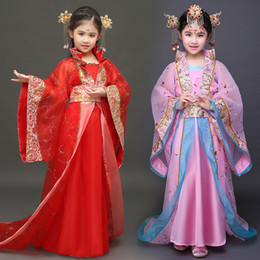 Chinese ladies Clothes online shopping - Children s Costume Fairy Lady Dress Trailing Tang Dynasty Ancient Little Princess Princess Chinese Clothes Dance Costumes