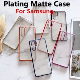 samsung s9 case purple Canada - Luxury Soft TPU Plating Matte Case For Samsung Galaxy Note 10 S9 S9 Plus A8 A9 Transparent Phone Protector Cover Cheapest