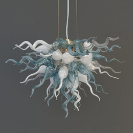 $enCountryForm.capitalKeyWord UK - Light Blue Blow Glass Chandelier New Item White Modern Style Modern Art Chandelier Cheap Free Shipping