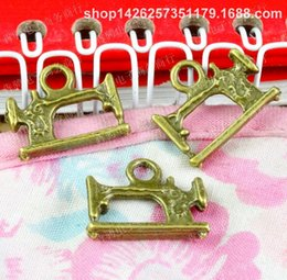 Sew Charm Wholesale Australia - 50pcs 18.5*15MM antique bronze tibetan fashion sewing machine charms for bracelet vintage metal pendants earring handmade DIY jewelry making