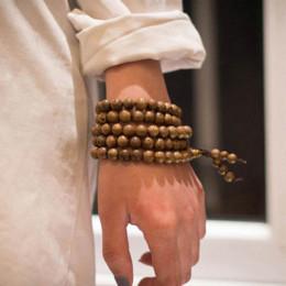 Prayer Beads Bracelet Men Australia - Prayer Beads Bracelet 108 Tibetan Buddha Charm Mala Meditation Necklace Yoga Rosary lucky Wooden Bracelet For Women Men Jewelry