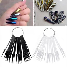 nail practice Australia - Nail Art 40 Colors Manicure Polish Gel Color Display Practice Tool False Nails With Glue