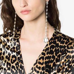 Clip Pendants Australia - Geometric design stylish long pendant clip earrings