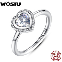 Love Rings Sale Australia - Hot Sale Authentic 925 Sterling Silver Sparkling Love Heart Wedding Ring With Clear CZ For Women Luxury Fine Jewelry XCH7135