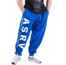 new cylinder Canada - gym New Autumn Men's Sports Pants Chao Brand Large Size Straight Cylinder Outdoor Fitness Sanitary Pants